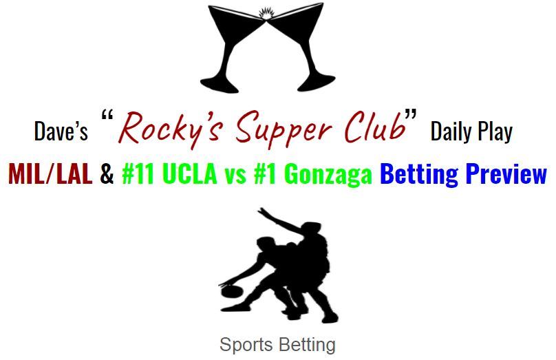 Bucks/Lakers; UCLA/Gonzaga: Betting Preview