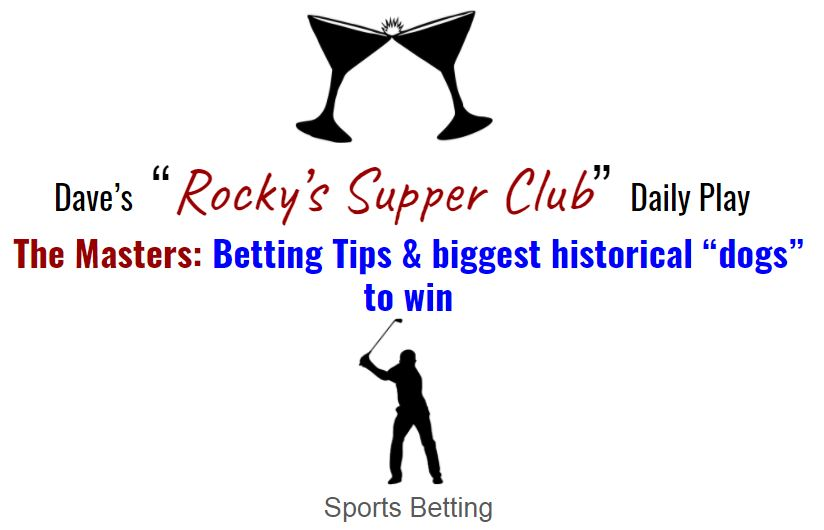 """The Masters: Betting tips & Historical """"dogs"""" who've won it all"""