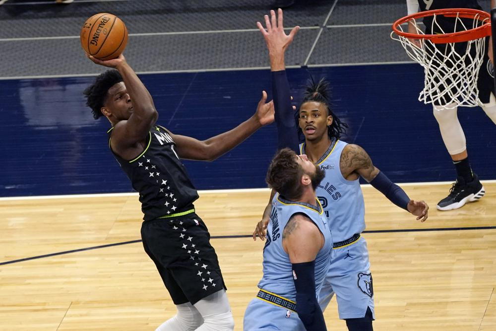 Grizzlies' Morant scores 37, outdueling Minnesota rookie Edwards, who dropped career-high 42
