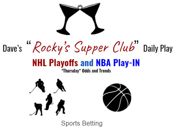 NHL Playoffs + NBA Play-In odds and trends