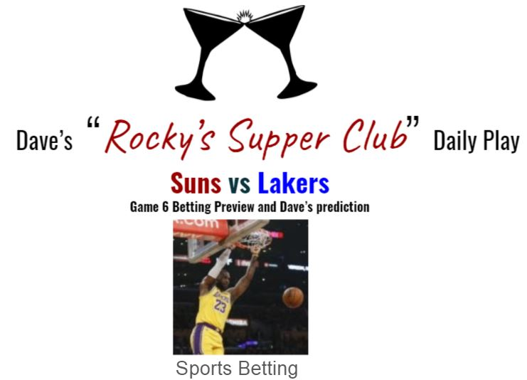 Lakers vs Suns: Game 6 betting preview
