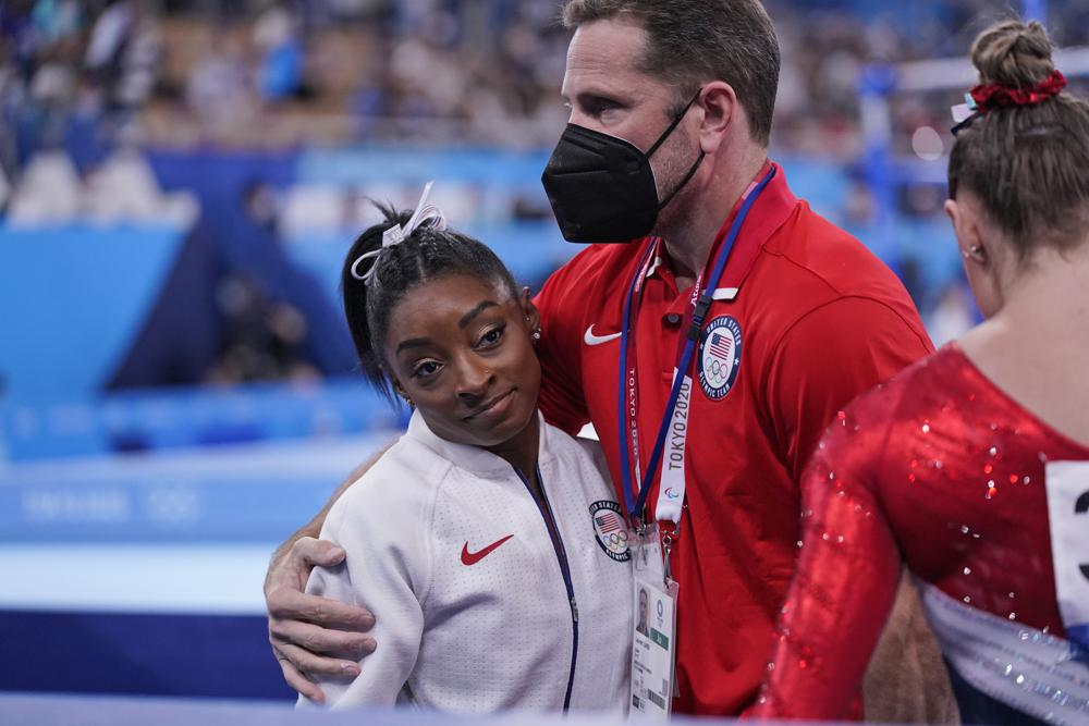 Column: For Biles, it finally all becomes too much