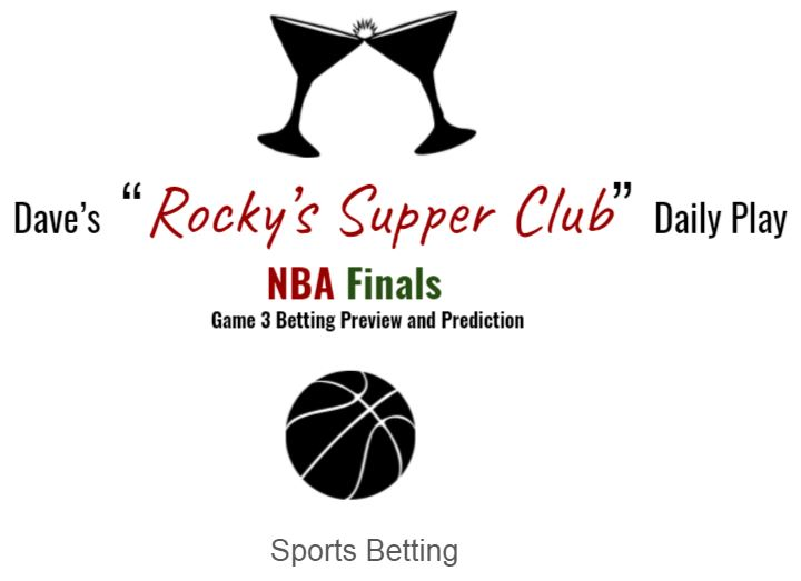 NBA Finals Game 3: Betting Preview & Prediction