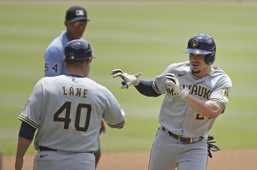 Adames' bat, Anderson's arm lift Brewers past Braves 2-1