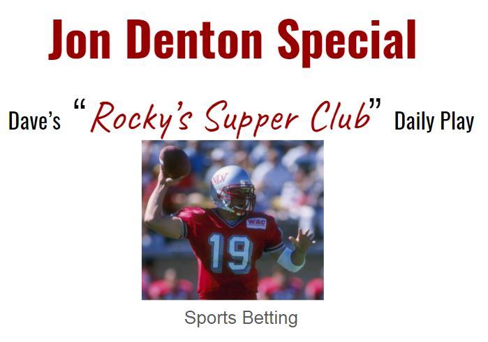 Jon Denton Special: Week 1 CFB