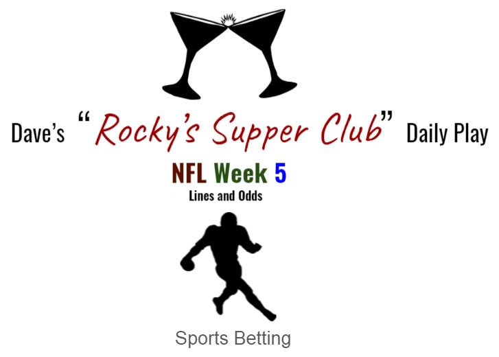NFL Week 5 lines and odds + Wisc @ Illinois