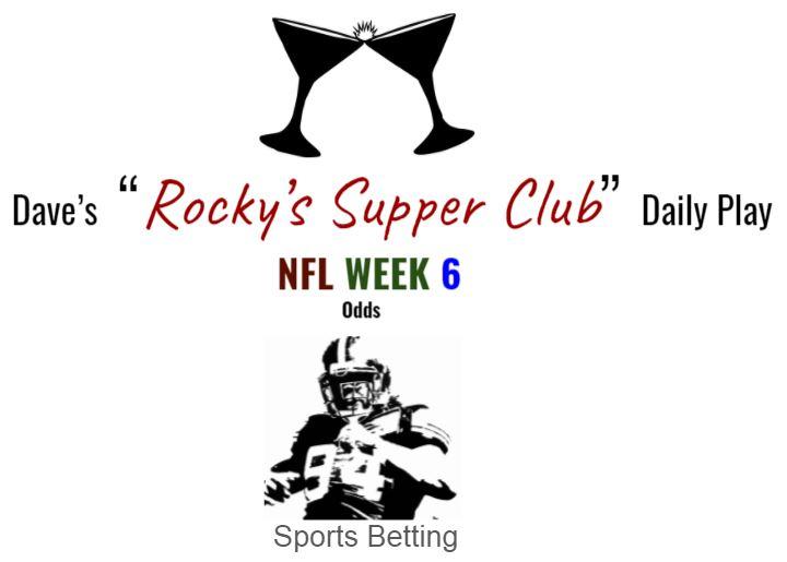 NFL Week 6 (Odds)